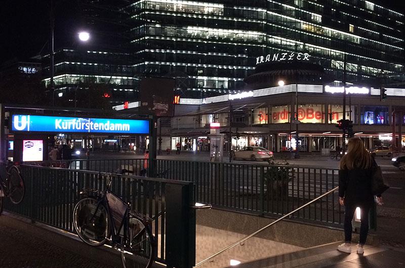Kurfüsrtendamm U-Bahn Eingang