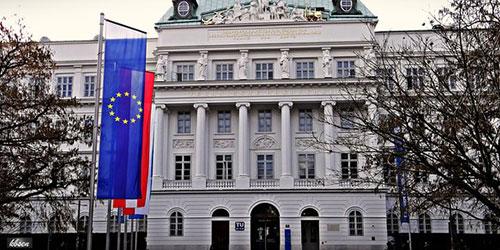 TU Wien mit Europaflagge